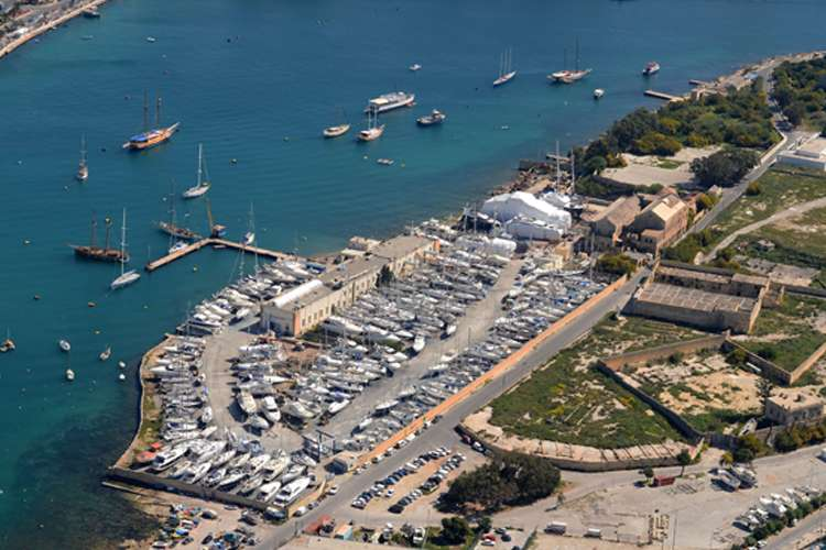 Aerial image of the Manoel Island Yacht Yard