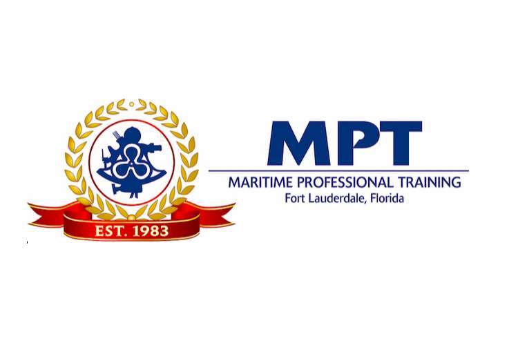 MPT- Maritime Professional Training logo on a white background.