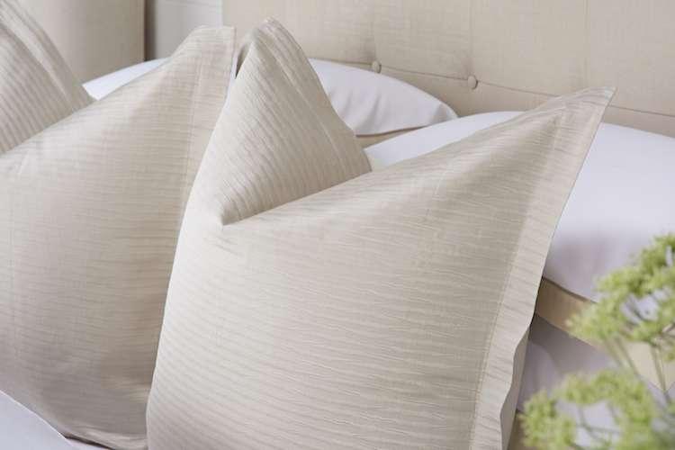 Egg shell white cushions