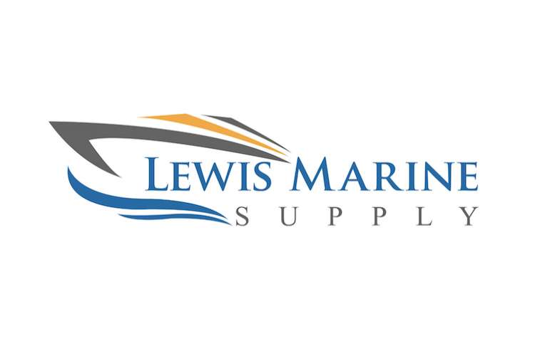 Lewis Marine Supply logo on a white background