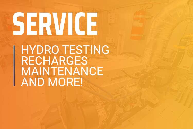 Service, hydro testing, recharges, maintenance and more!