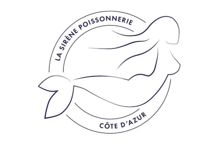 Poissonnerie La Sirene logo on a white background.