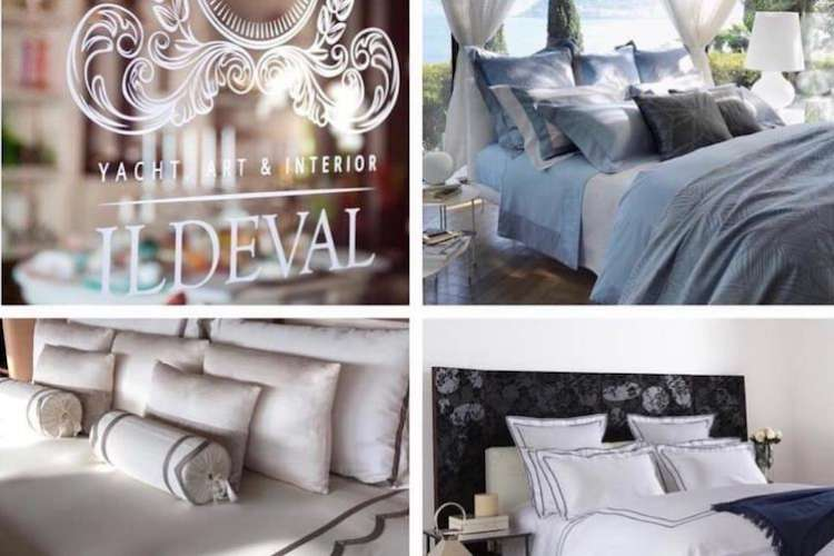 Luxurious beds made with Ildeval bedding.