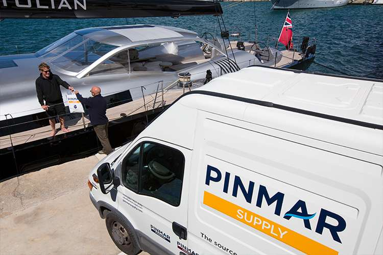 Pinmar Supply van in a port