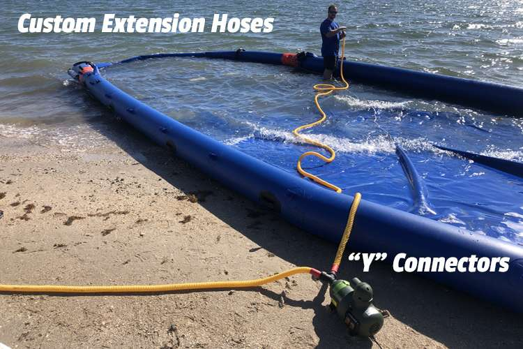 Image of water slide with an extension hose