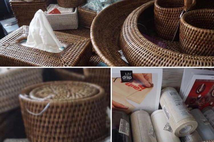 Rattan accessories and items from Ildeval.