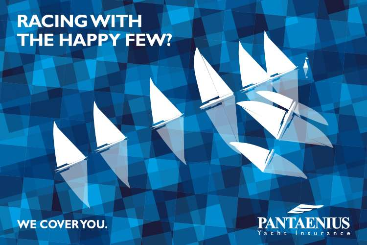 Pantaenius logo with text 'Racing with the happy few?'