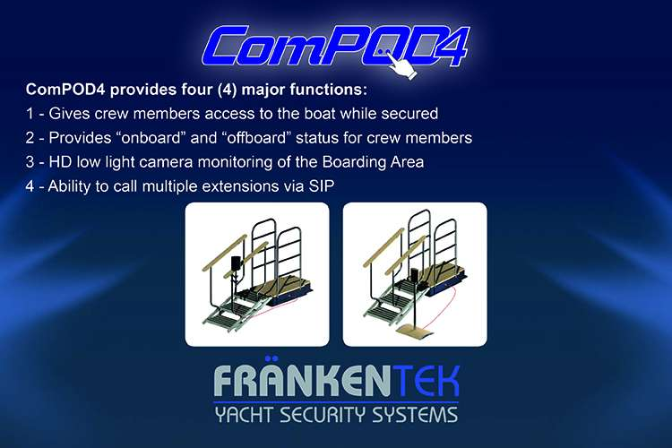 ComPOd4 Yacht security system major functions