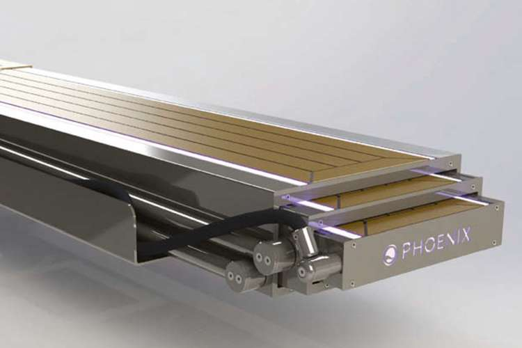 Rendering of a Hydraulic Passerelle from Phoenix Marine Solutions