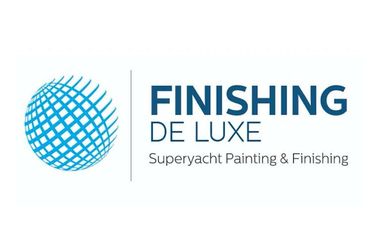 Finishing De Luxe logo on a white background