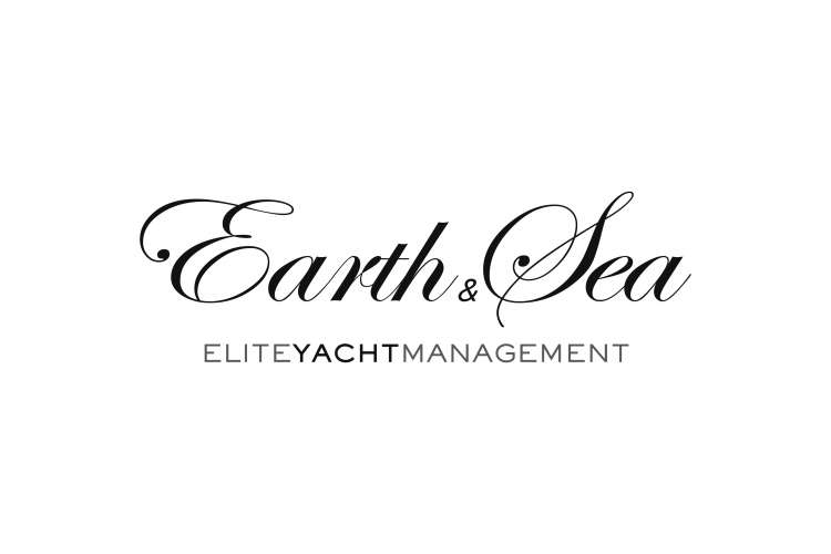 Black Earth & Sea - Elite Yacht Management logo on a white background.