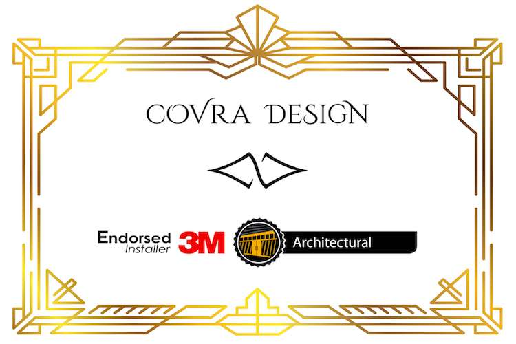 Covra Design and 3M logo with text: endorsed 3M installer