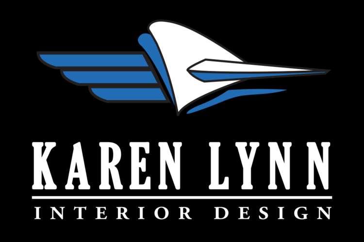 Karen Lynn Interior Design logo on a black background.
