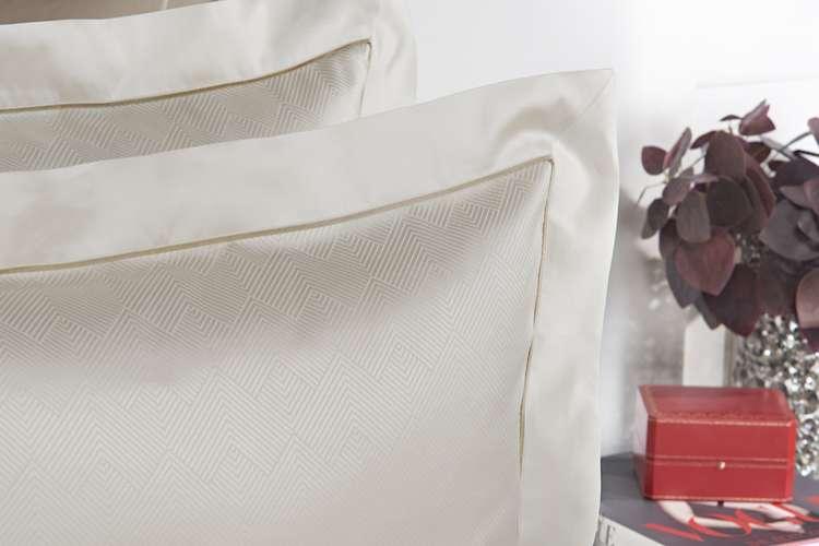 Fine egg shell white cushions
