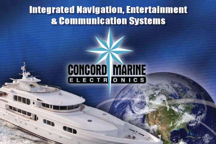 Concord Marine logo and text: Integrated Navigation, Entertainment & Communication Systems.