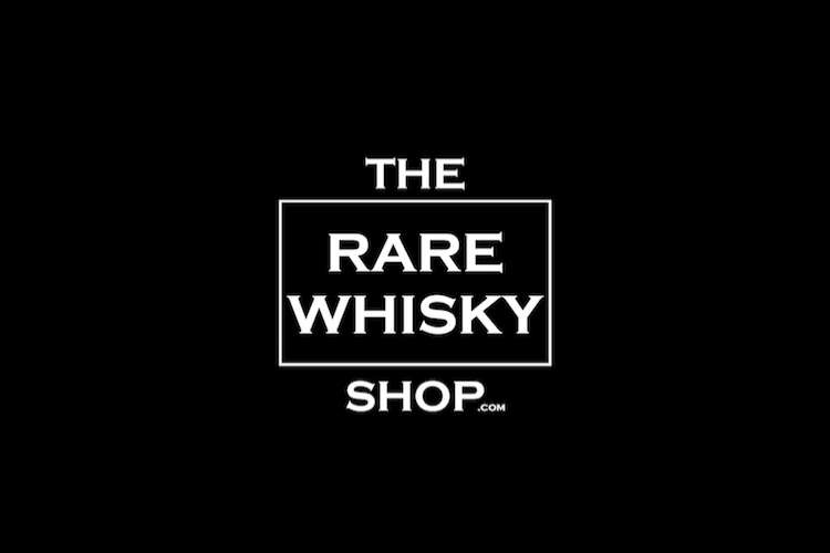 The Rare Whisky Shop logo on a black background
