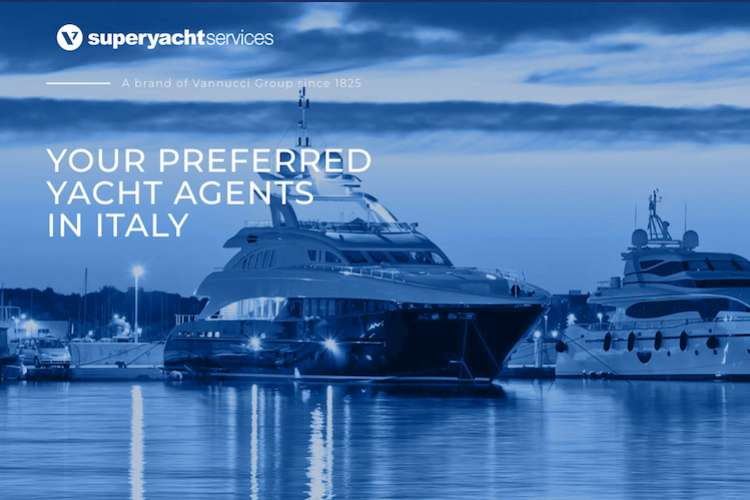 Superyacht services logo and text