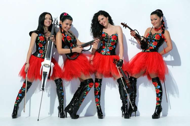Image of an electric violin group.