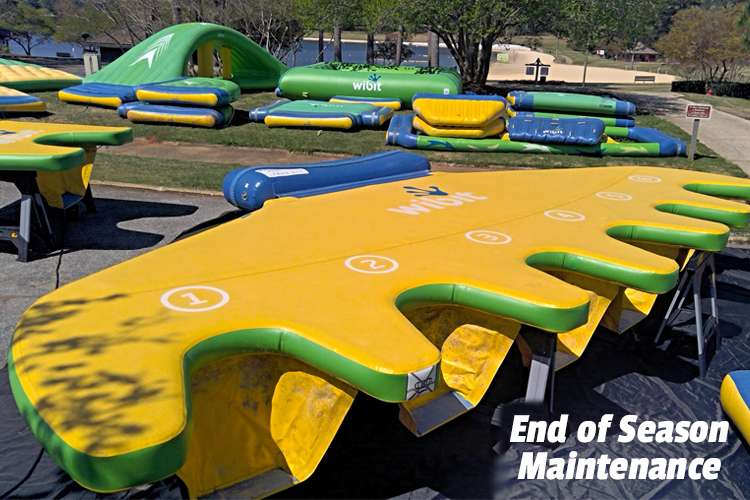 Image of inflatable water toys with text: