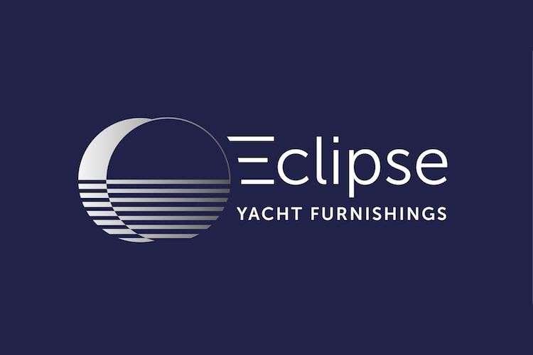 Eclipse Yacht Furnishing logo on a dark blue background