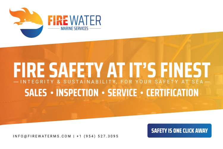 Fire Water Marine Services LLC Logo and text