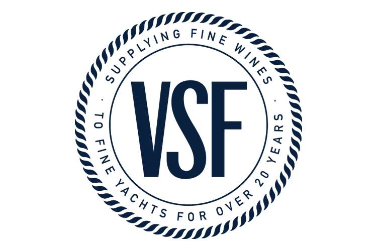 Dark Blue Vins Sans Frontieres - VSF logo on a white background.