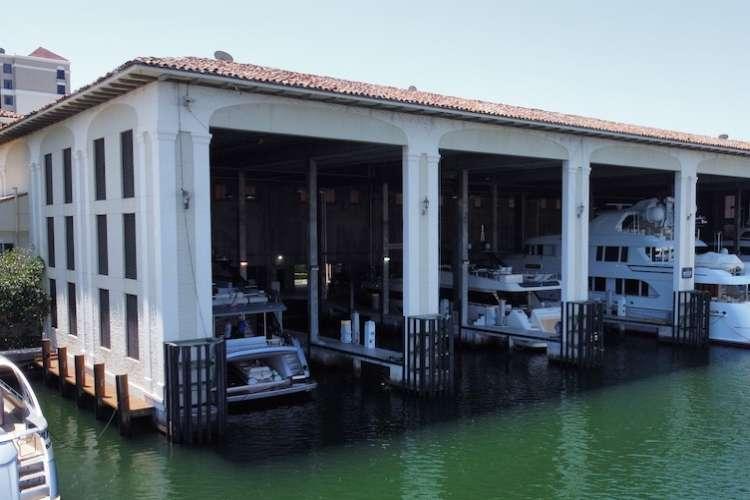 Image of a boathouse facility hangar