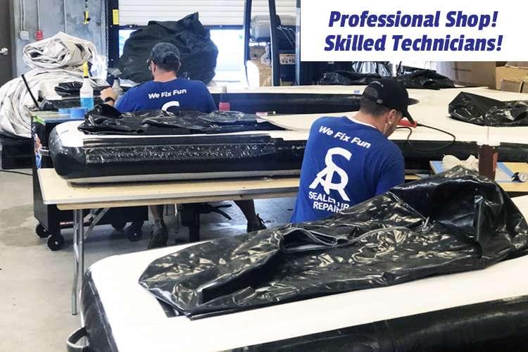 Sealed Air Repairs team working in a workshop