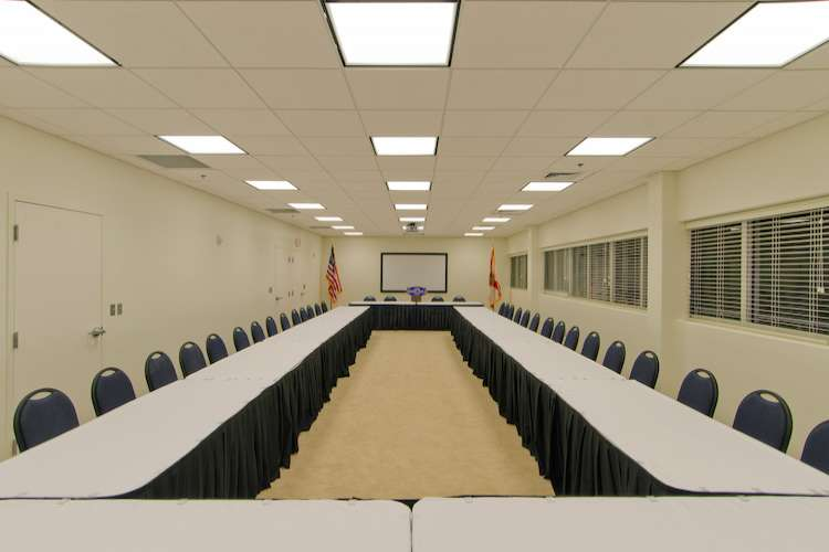 Big meeting room at Roscioli Yachting Center