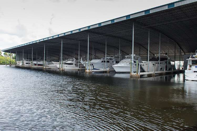 Image of a yachts docking under a roof