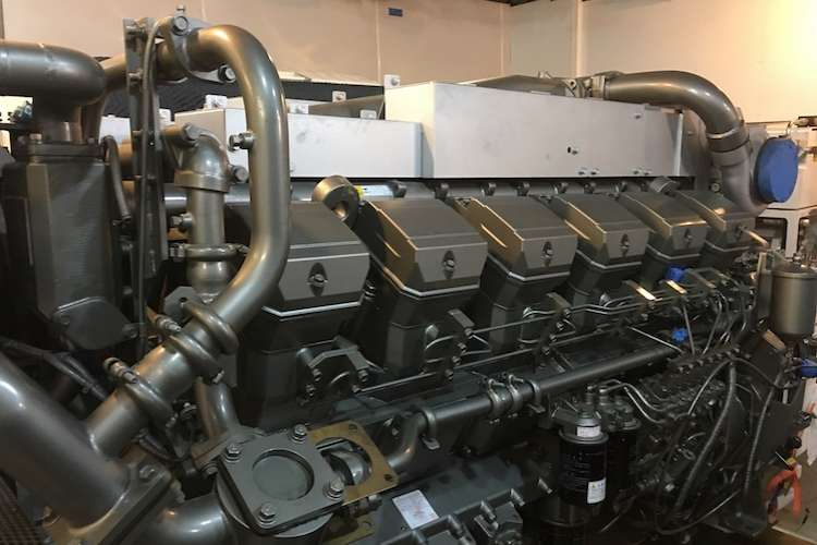 Image of a superyacht engine.