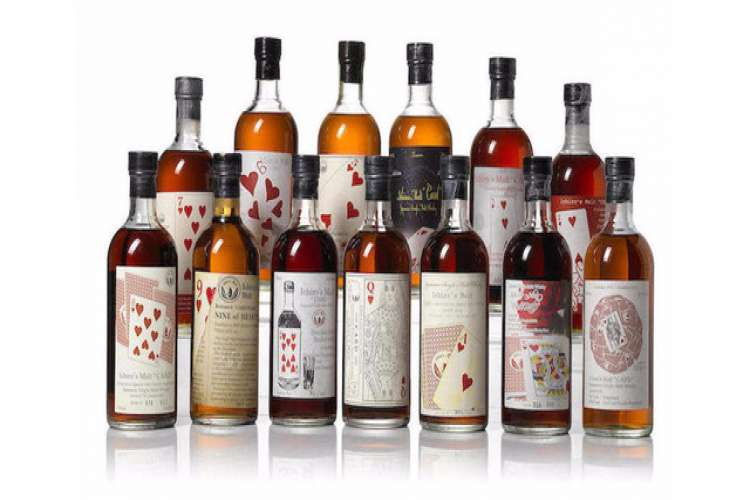 Karuizawa series whisky bottles