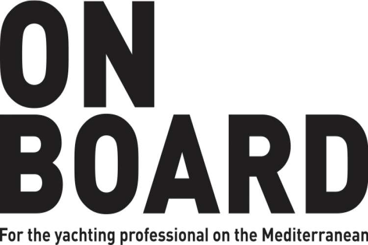 On Board logo- for the yachting professional on the Mediterranean.