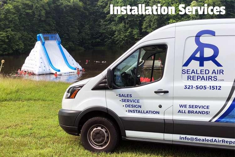 Image of Sealed Air Repairs van with text: