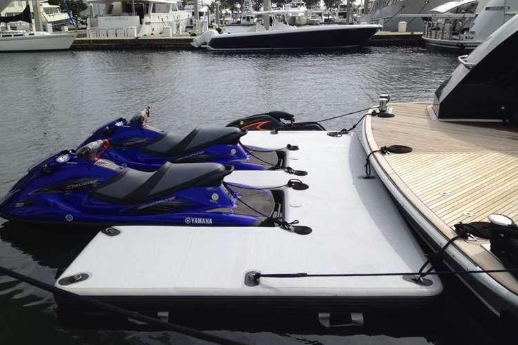 Floating Jet ski dock from Made 2 Measure Fenders