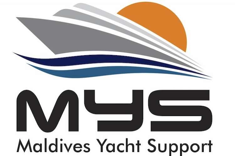 Maldives Yacht Support logo on a white background.