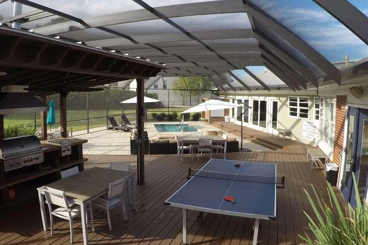 Crew lounge ping pong table at Thunder Marine shipyard