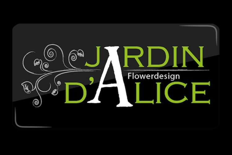 Jardin d' Alice logo on a black background
