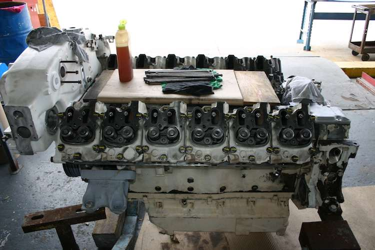 Image of a yacht diesel engine