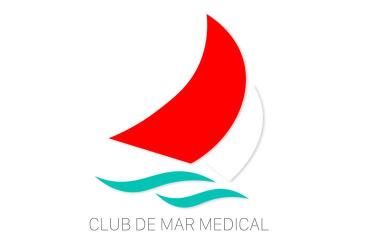 Club de Mar Medical logo on a white background.