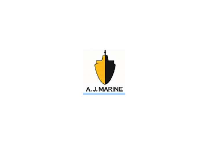 AJ Marine logo on a white background.