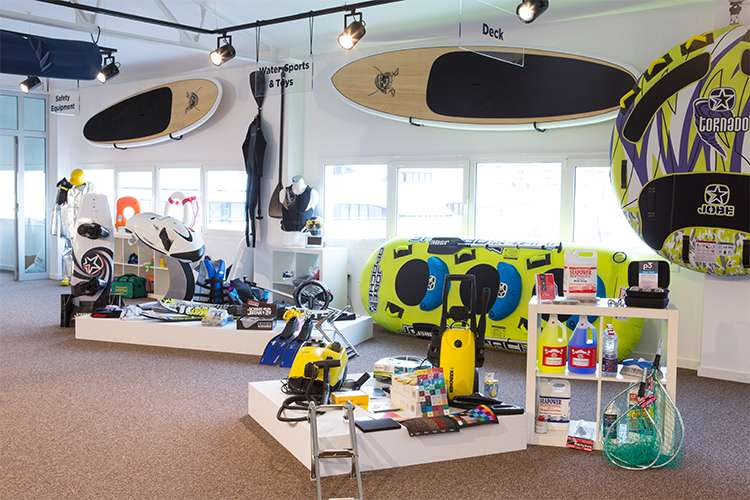 Image of water toys in display in a Pinmar Supply store