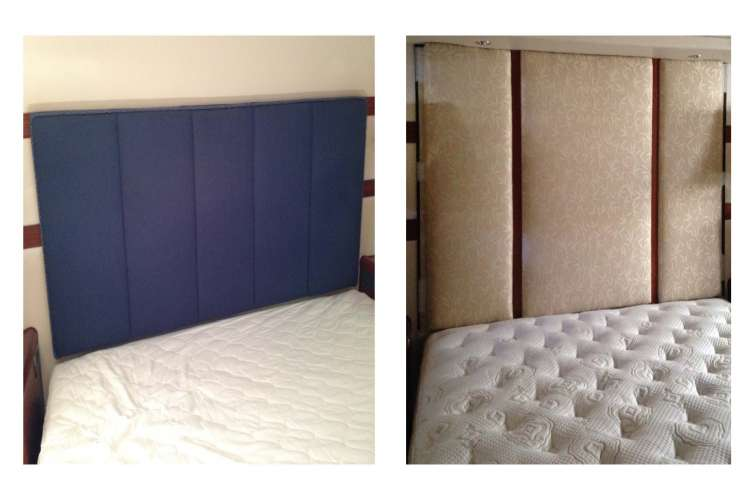 Before and after image of a bed change