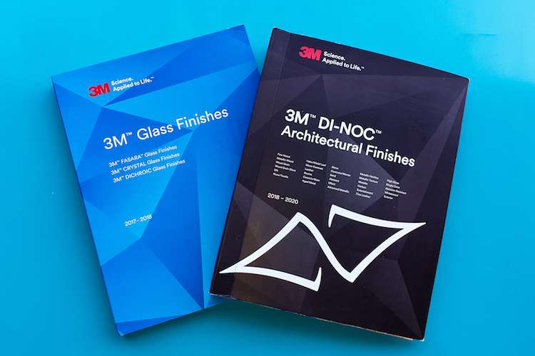 3M catalogues of Glass Finishes and 3M Di-Noc Architectural Finishes