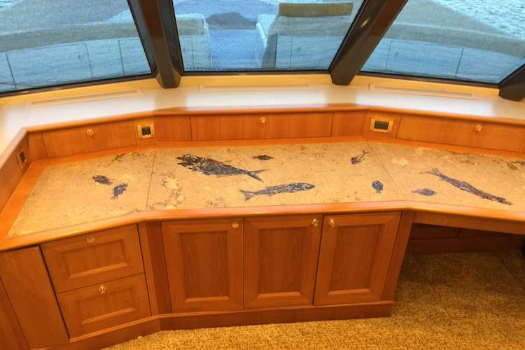 Custom made cabinets for a yacht