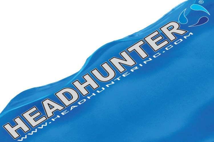 Headhunter logo on a white blue background.