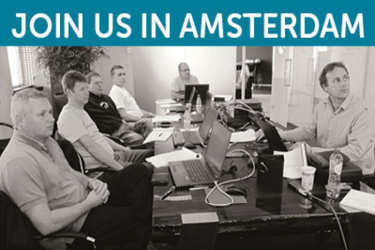 Image of Bond Technology Management team in Amsterdam with header text: