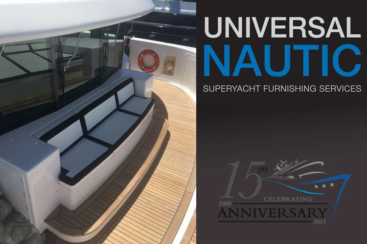 Exterior couch upholstered by Universal Nautic
