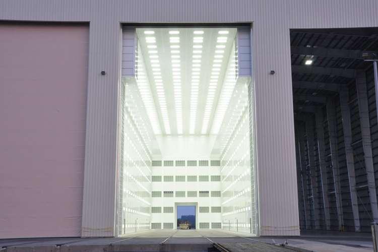 Image of a hangar at Thunder Marine shipyard