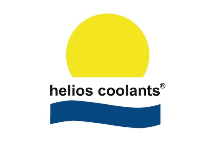 Helios Coolants logo on a white background.